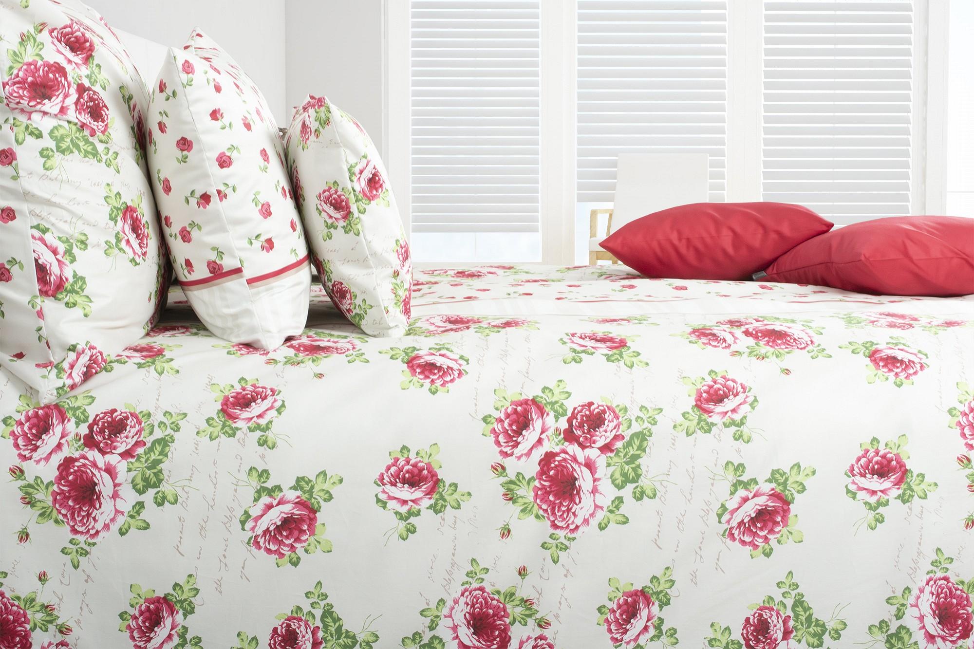 Bettwasche Mit Rosenbluten